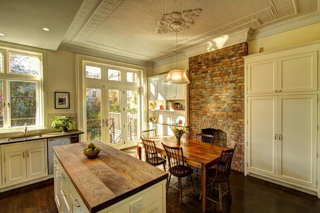 Park slope brownstone renovation by ben herzog adds open for Brownstone kitchen ideas