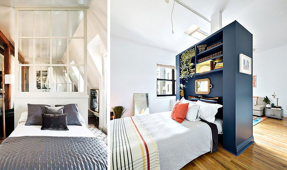 10 ways to make a studio apartment feel bigger 6sqft A sleek apartment the divides rooms creatively