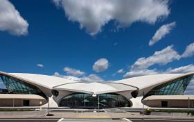 Eero Saarinen, JFK Airport, MCR development, Mid-century Modern, Neo-Futurist, TWA Terminal