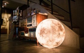 luna globe light, moon light, acorn studio