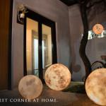 luna globe light, moon light, acorn studio