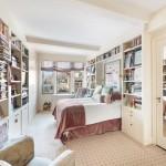 302 West 12th Street, master bedroom, bookshelves, condo