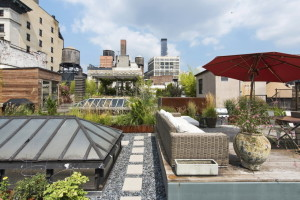 22 East 18th Street, Penthouse, Flatiron, Loft, Flatiron Loft for sale, cool listing, Compass, Interiors, Boffi, roof garden, private garden, outdoor cinema, gardens, landscaping, manhattan co-ops,