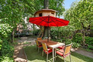 283 Adelphi Street, treehouse, backyard, townhouse