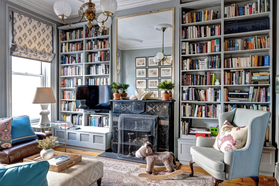 Bibliothèque Moderne Bois - Brooklyn Brownstone by McGrath II Shines With Subtle Color Palettes and Curated Accessories 6sqft