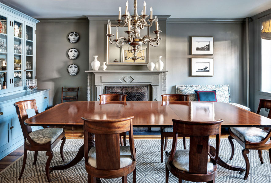 Brooklyn Brownstone Mcgrath Interiors Wood Dining Room Table