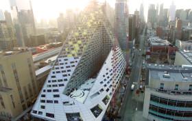 new york pyramid building, bjarke ingels pyramid,, BIG pyramid, 635 west 57th street,