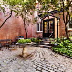 337 West 20th Street, entrance, carriage house