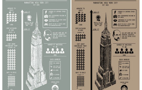 Taylor Doolittle designer, handmade print, print empire state building, poster empire state building