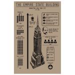 Taylor Doolittle designer, handmade print, print empire state building, poster empire state building