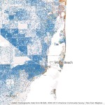 Mapping Immigrant America, Kyle Walker, immigration map, Miami population map
