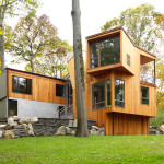 exterior, split level home, architecture lloyd neck new york