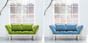 Fresh Futon KARUP, space saving furniture, futon, pine furniture
