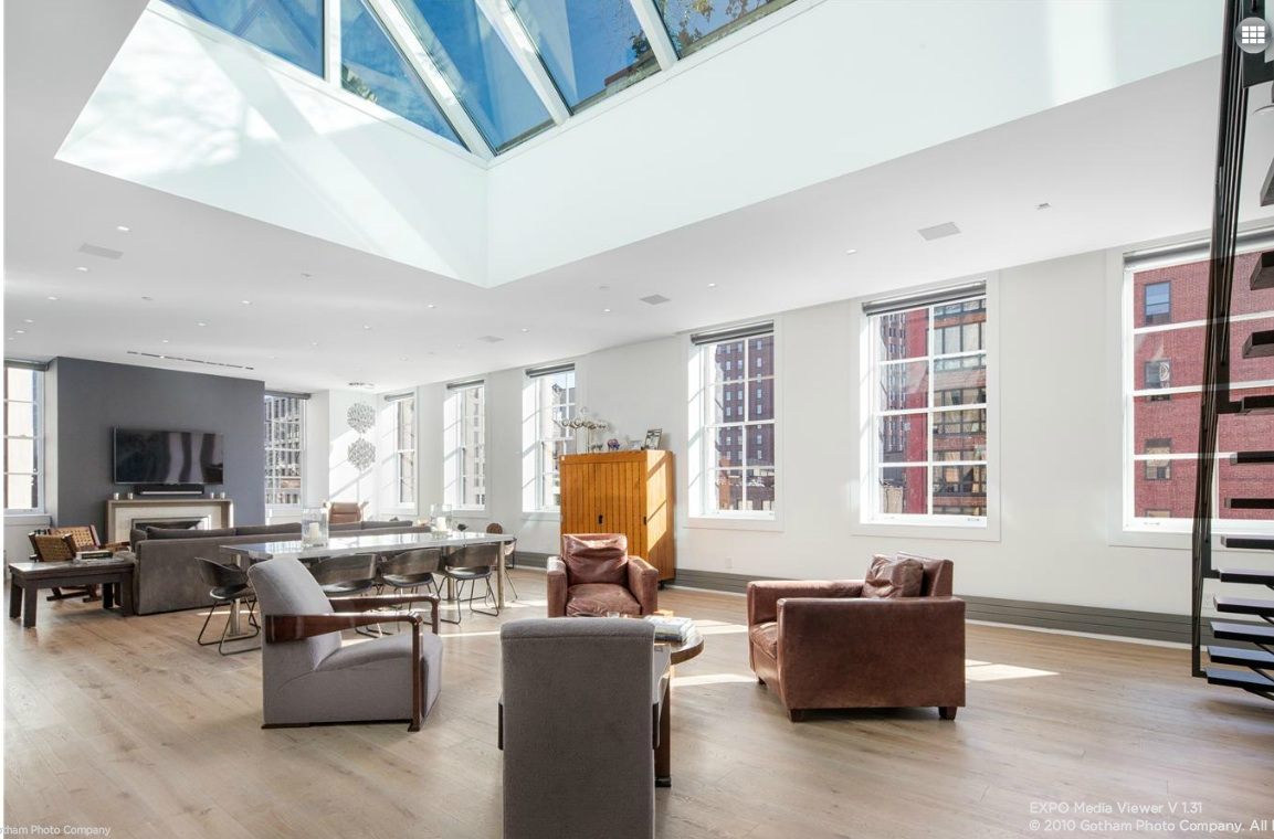 140 franklin street, tribeca, skylight, loft