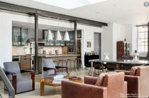 140 Franklin Street, kitchen, loft, condo