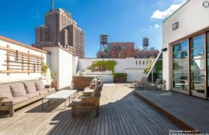 140 Franklin Street, terrace, roof deck, penthouse