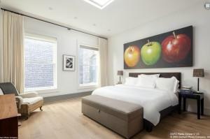 140 Franklin Street, master bedroom, penthouse, tribeca