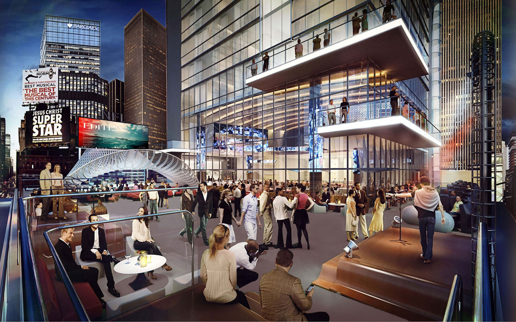 Times Square S Marriott Edition Hotel Breaks Ground Will