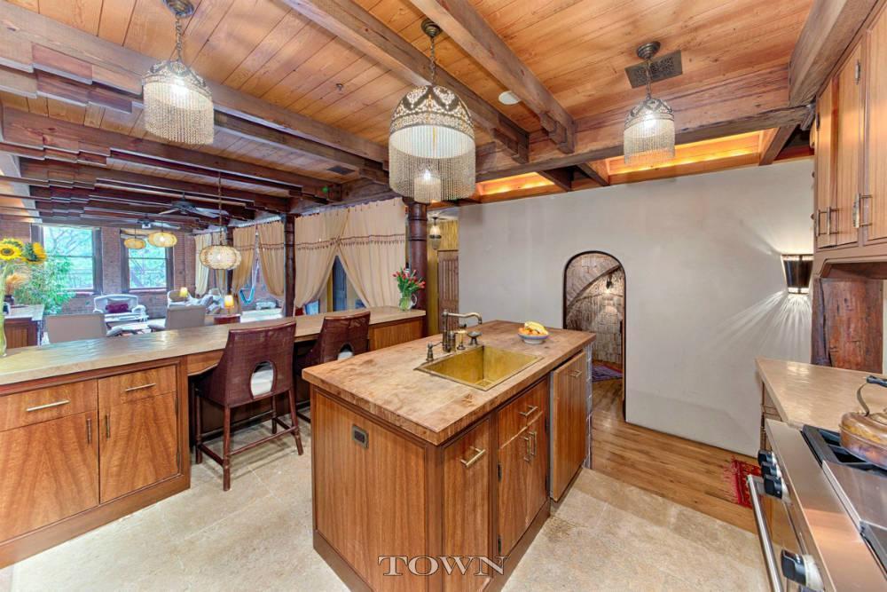 321 Greenwich Street, kitchen, loft, wood