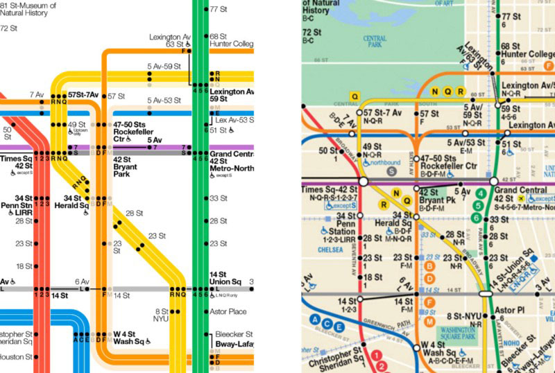 Subway Map To Rockefeller.Tommi Moilanen S New Subway Map Design Makes It Easier To Navigate