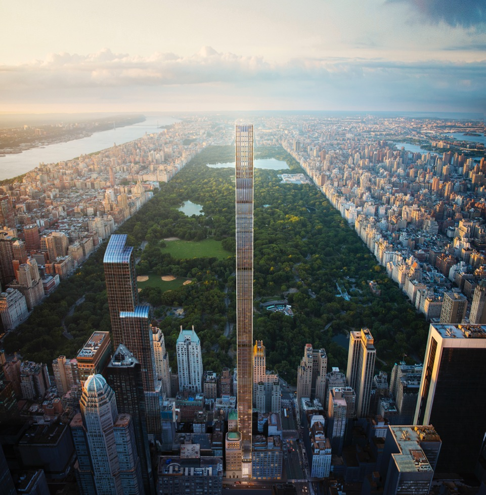 World's skinniest skyscraper at 111 West 57th Street stalled at 20 stories by soaring costs