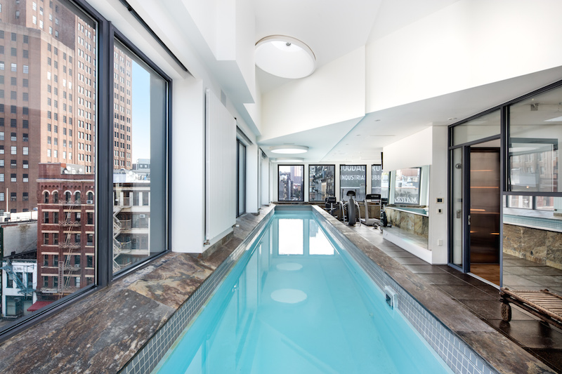 Tribeca 'suburban mansion with pool and three car garage
