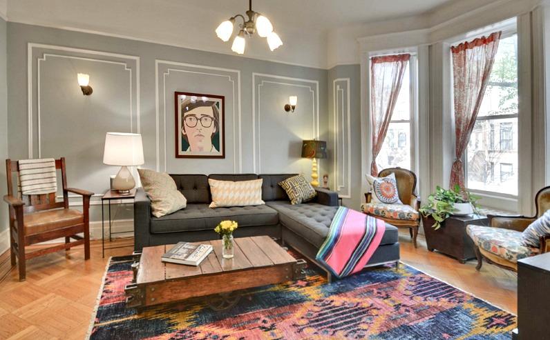 182 Rutland Road, prospect lefferts gardens, living room, townhouse