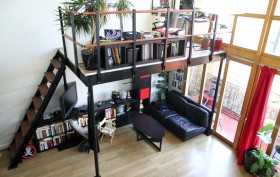 DIY Loft Kit, microloft, tiny apartment solutions, how to make more space in a small apartment