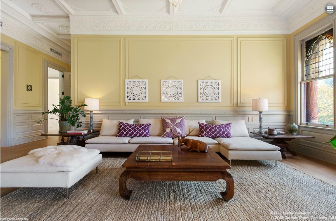 25 8th avenue, montauk club, living room, park slope, condo