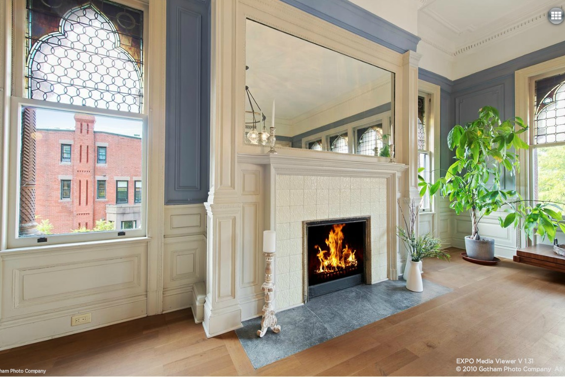 montauk club, 25 8th avenue, fireplace