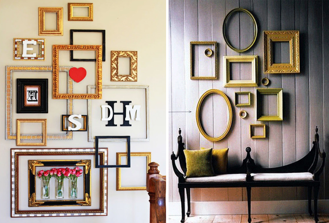 10 imaginative and inexpensive ways to frame your favorite art 6sqft - Wall decoration design ...