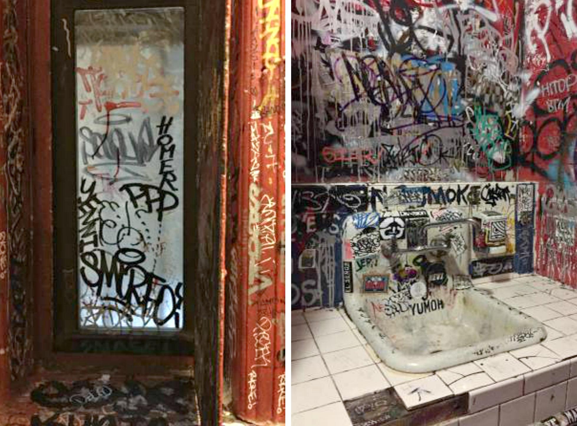 LES bathroom rental, Local 138, gag real estate listing, dive bar bathroom