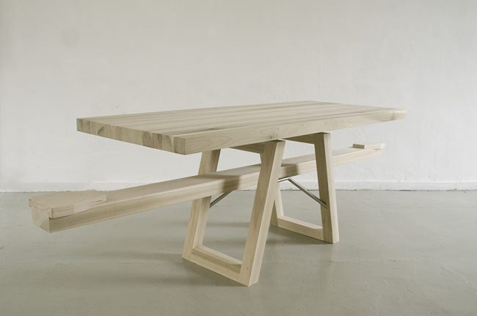 Marleen-Jansen, sea saw table,  Tafelwip