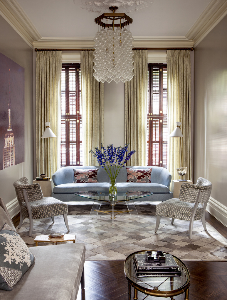 Upper east side townhouse by blair harris boasts opulant for Upper living room designs