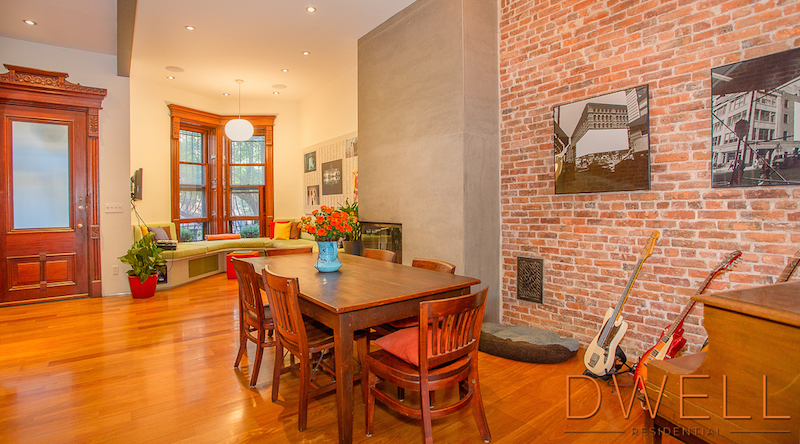 144 Lincoln Place, Park Slope, Brooklyn townhouse for sale, brooklyn brownstone, brownstone renovation, MESH, vertical loft house, Laura Lau, Chris Kentis, Interiors, Gardens,