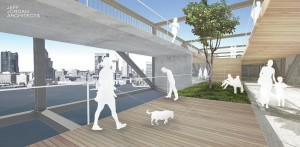 Kevin Shane, Jeff Jordan Architects, Liberty Bridge, pedestrian bridge NYC, Hudson River bridge