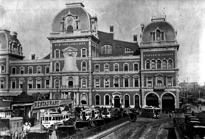 Grand Central Depot, John B. Snook, Cornelius Vanderbilt, historic photos of Grand Central