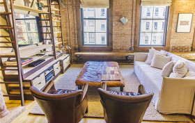 426 West Broadway, condo, living room, loft