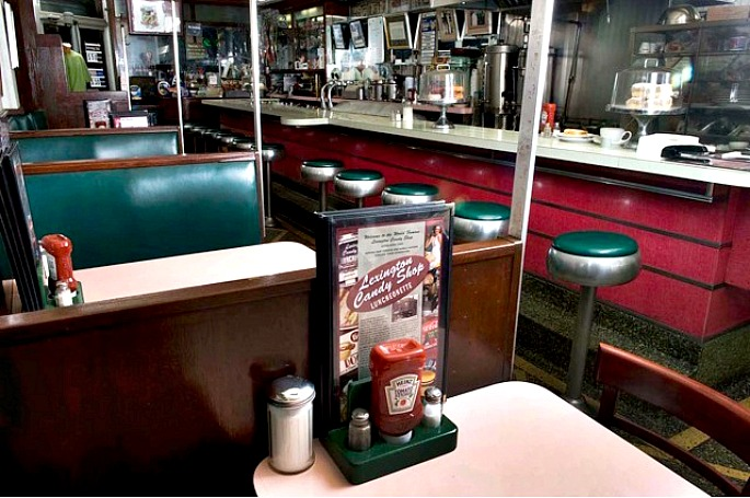 NYC luncheonette, Lexington Candy Shop, historic NYC businesses, John Philis
