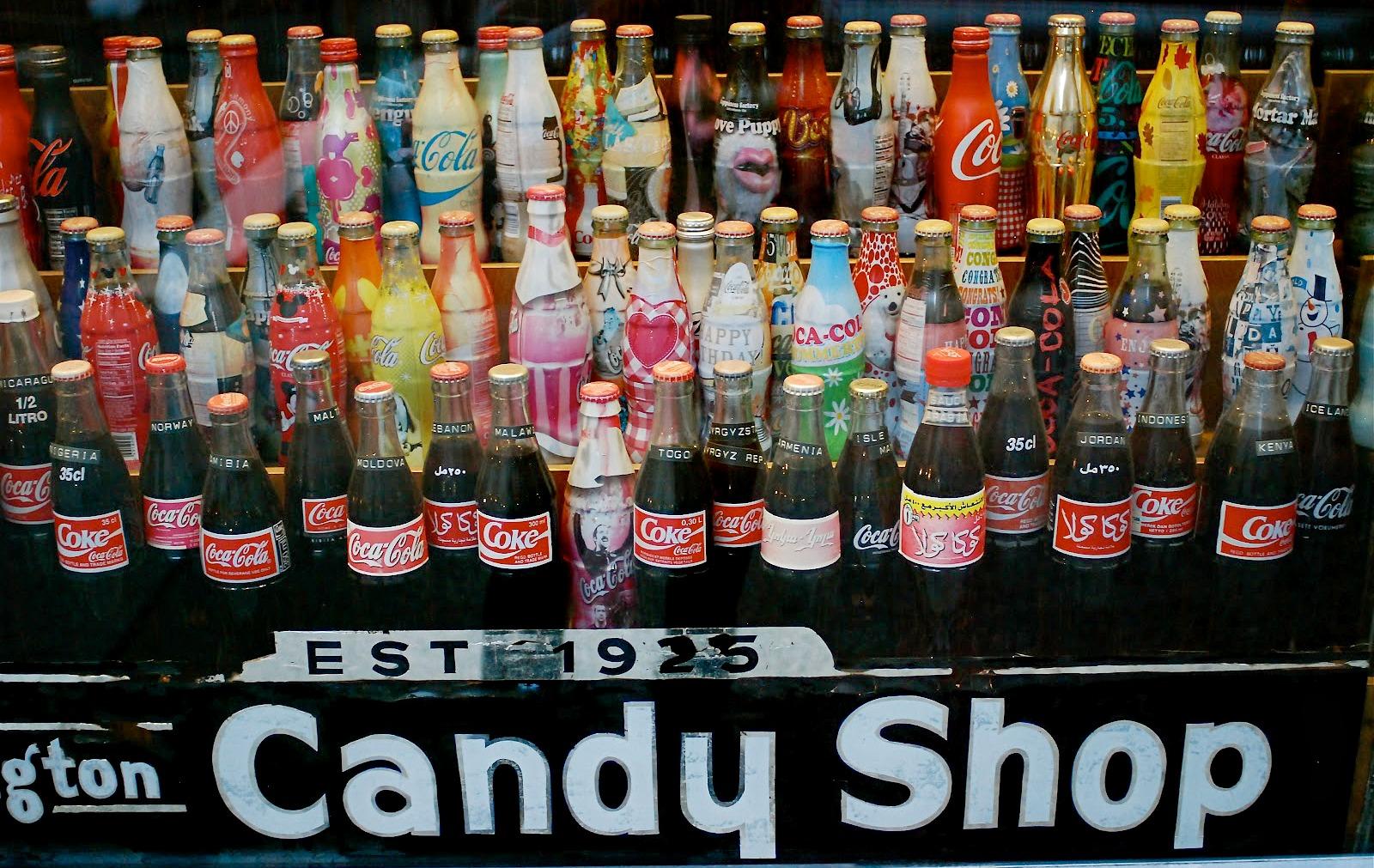 Lexington Candy Shop, Coca Cola collection, vintage coke bottles, NYC luncheonette