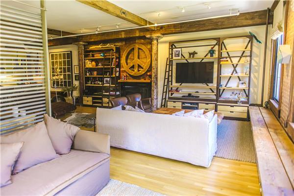426 West Broadway, condo, living room, loft