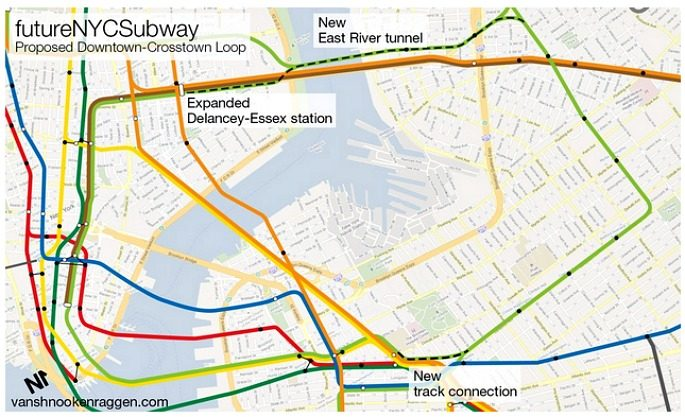 G Train Subway Map.Here S What The G Train Could Look Like If It Went Into Manhattan