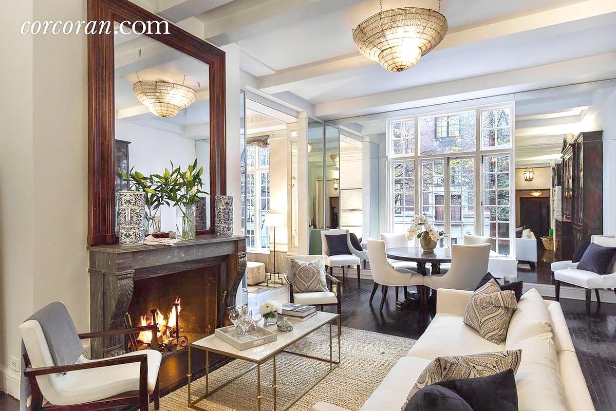 this cozy elegant ues duplex is the perfect manhattan winter