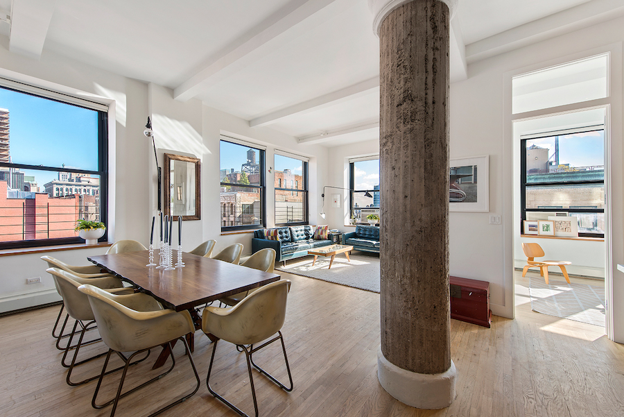 250 Mercer Street, Cool Listings, Greenwich Village, Noho, Manhattan condo loft for sale, interiors, Jessica Chastain, Berg Design