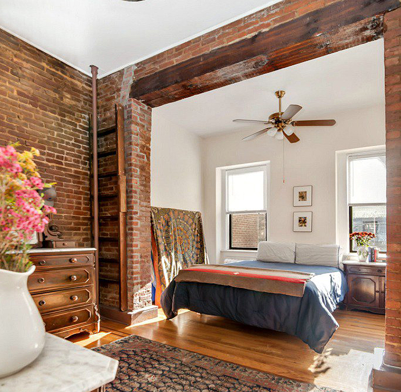 this one bedroom rental in carroll gardens boasts the loft aesthetic