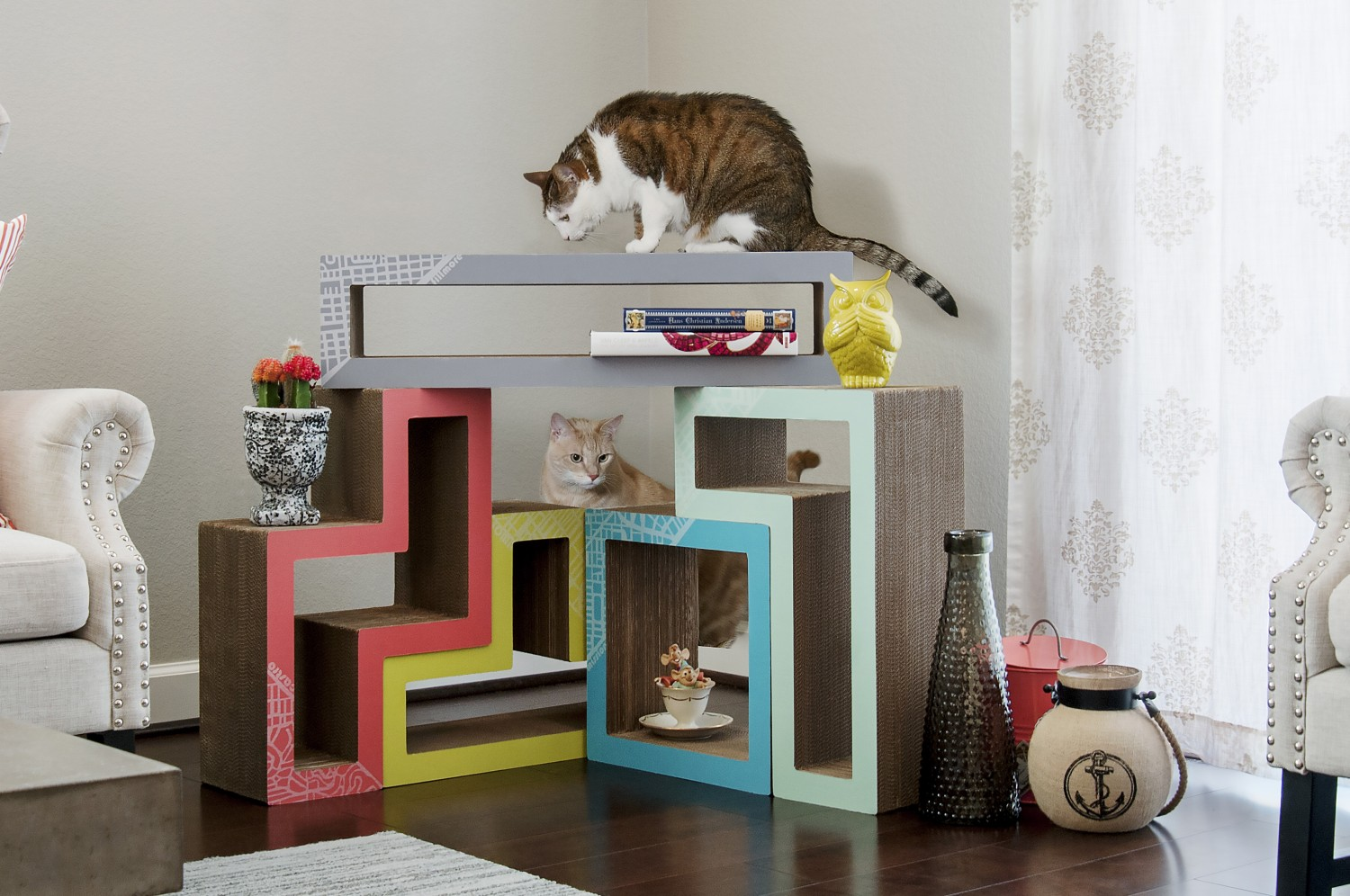 Katris, Papercut Lab, Tetris Furniture, Cats