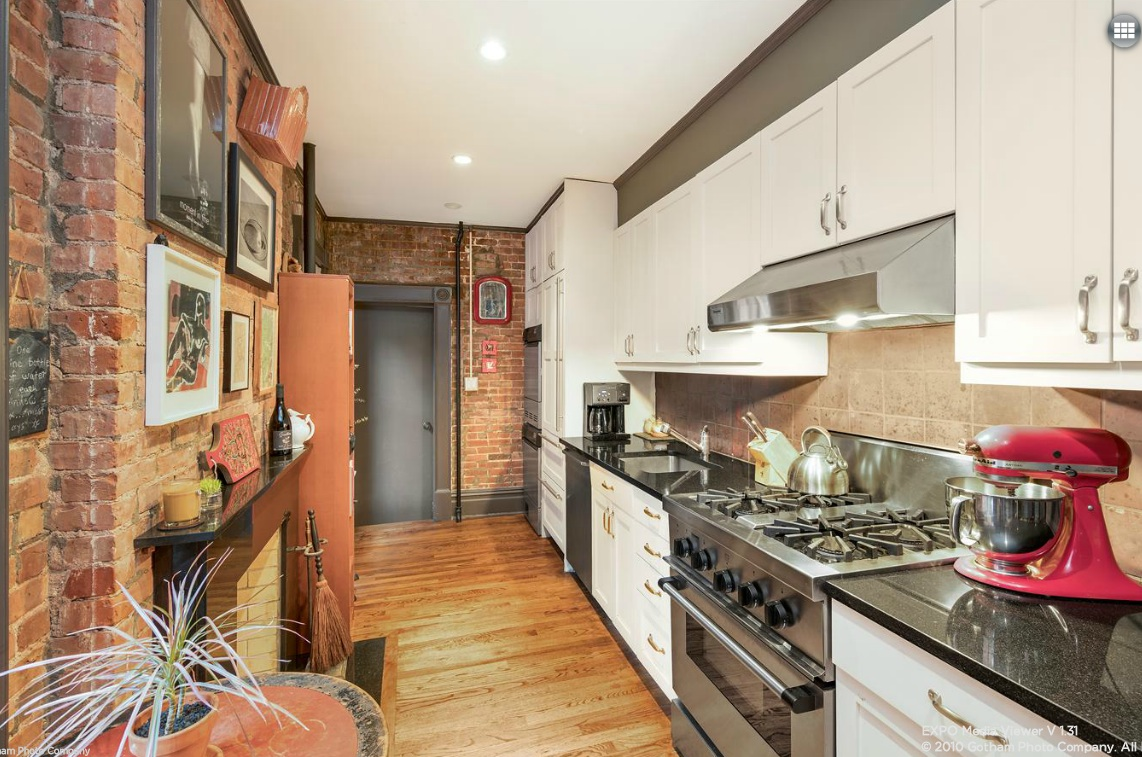 7 gay street, kitchen, co-op, rental, greenwich village