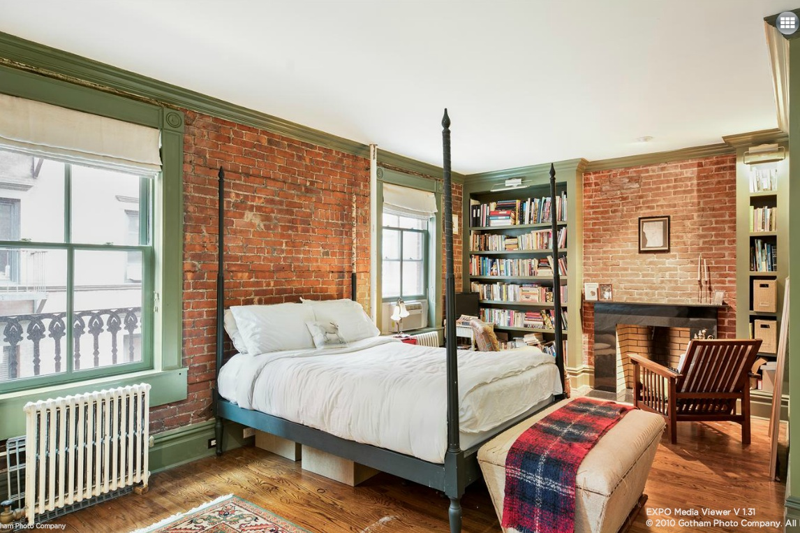 5-7 Gay Street, bedroom, greenwich village, co-op