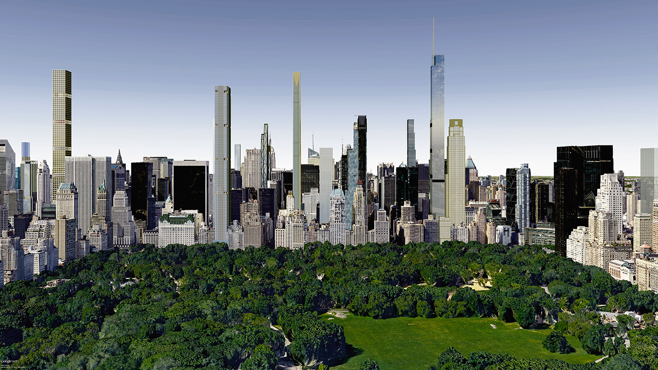 Central Park future skyline, billionaires' row