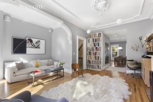127 Park Place, living room, park slope